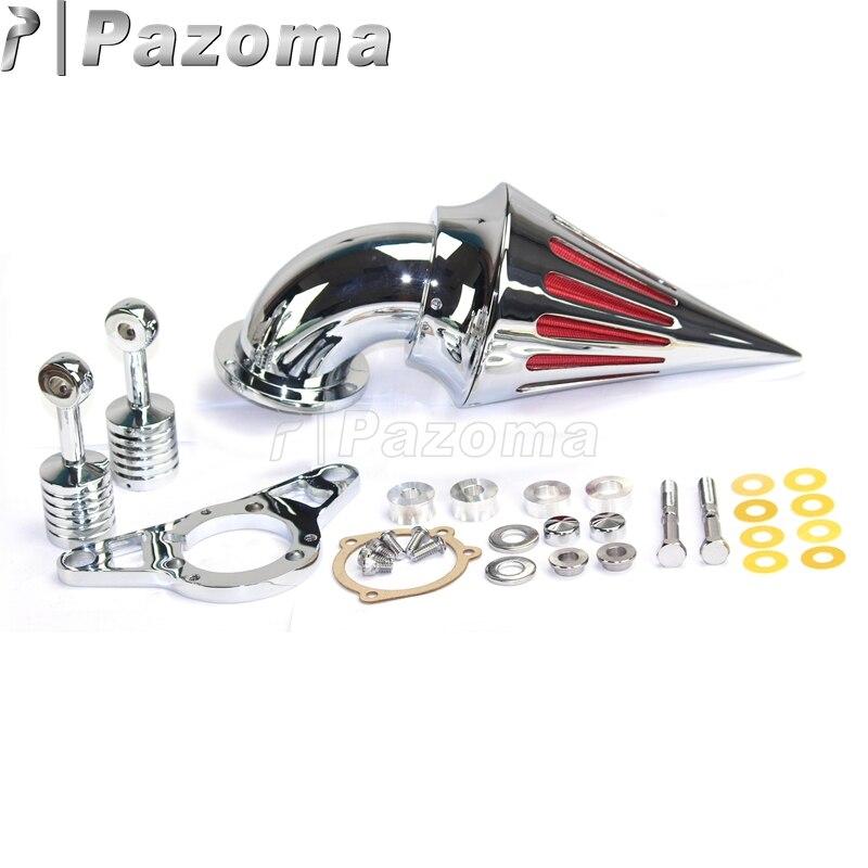 Motorcycle Chrome Spike Air Cleaner Intake Filter For Harley Davidson CV Carburetor Delphi V-Twin