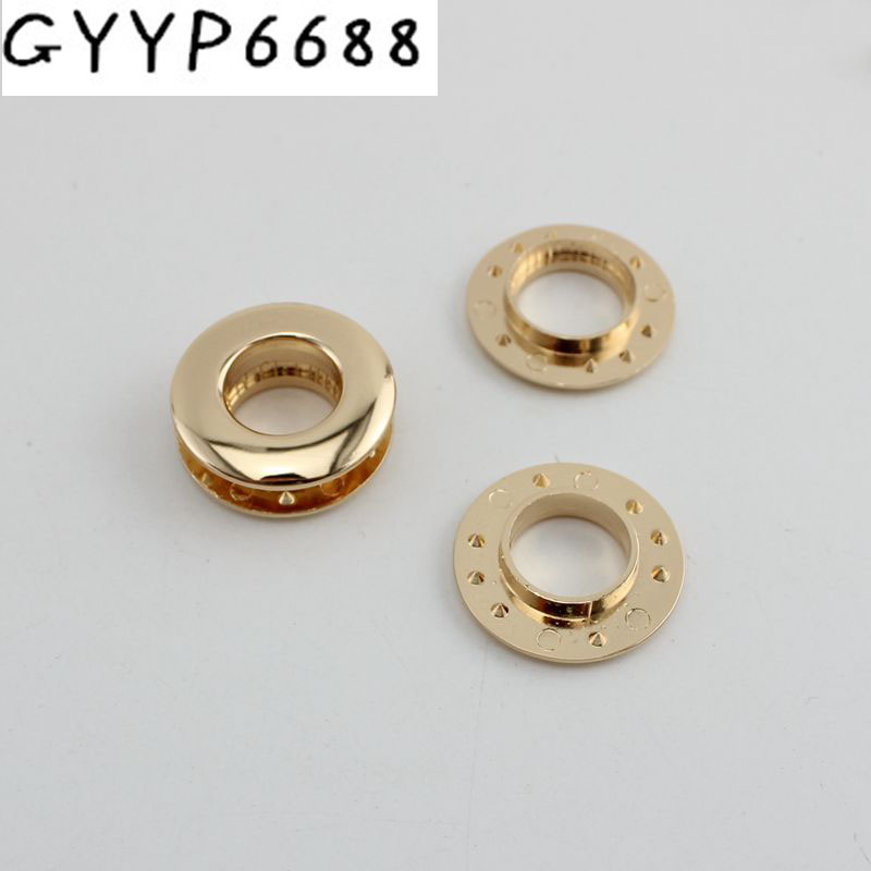 30pcs 10pcs Eyelet Hardware Female Bag Hole Eyeball Drilling Without Screws Hardware Accessory Push Round Eyelets For Supplies