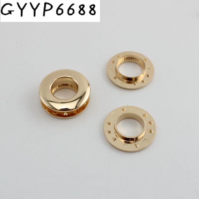 30pcs 10pcs Eyelet Hardware Female Bag Hole Eyeball Drilling Without Screws Hardware Accessory Push Round Eyelets For Supplies