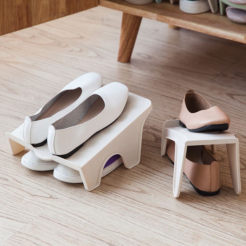 Creative Wardrobe Layered Shoe Storage Hanger Rack Save Space Up And Down Two-dimensional Stereo Storage Shoe Rack & Hanger Gift