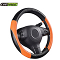 (Car-Pass) High Quality Pvc Leather Hand-stitched Car Steering Wheel Cover Breathable and Anti-slip Fit For Most  Cars Styling