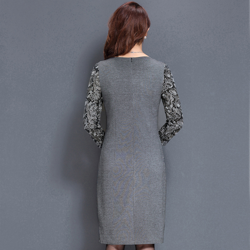 123f6051da3e8 US $35.82 40% OFF|It's Yiiya Mother of the Bride Dresses O Neck Three  Quarter Sleeve Lace Slim Plus Size A Line Elegant Mother Dress M031-in  Mother of ...