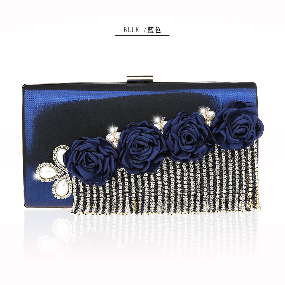 Detail Feedback Questions about New Navy Blue Womens Bag Wedding Evening Bag  Solid Day Clutches PU Handbag Bride Party Purse Makeup Bag Shoulder Bag  12011 A ... 8b930943be3e
