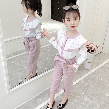 Girls Elegant O-Neck Clothes Suits Set For Teens