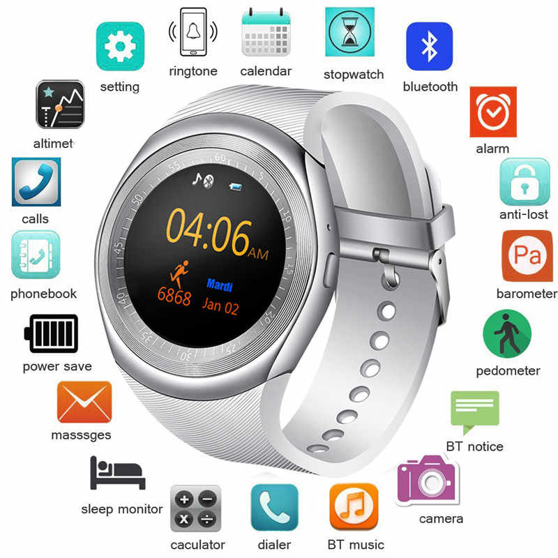 Tahan Air Fashion Smart Watch Pria Olahraga Pedometer Pemantauan Tekanan Darah Smart Watch Informasi Pengingat Reloj Inteligente