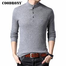 COODRONY Brand Sweater Men Streetwear Fashion Turtleneck Pull Homme Merino Wool Sweaters Winter Warm Cashmere Pullover 93013