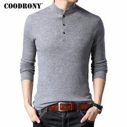 COODRONY Merk Trui Mannen Streetwear Mode Coltrui Pull Homme Merino Wollen Truien Winter Warme Kasjmier Trui Mannen 93013