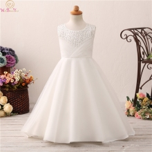 2019 Ivory Flower Girl Dresses for Weddings Cloud Toddler Kids First Communion Dresses Pageant Dress Prom Dress for Little Girls