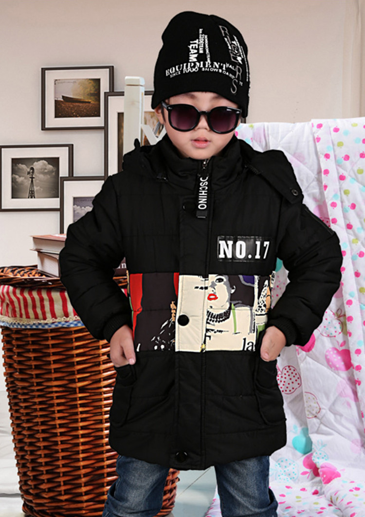купить Teens Boy Winter Jacket And Coats Hooded Thick Warm Velvet Down & Parkas For Kids Boys 6-12Y SY дешево