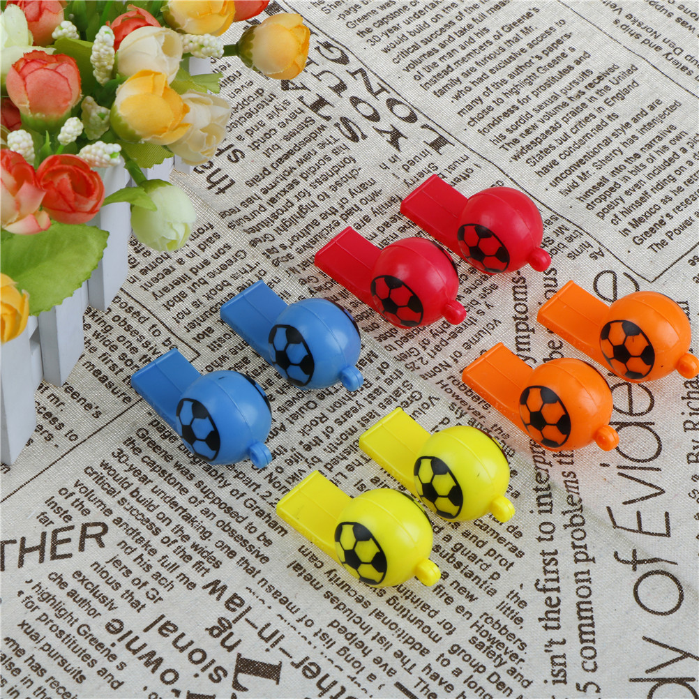 Toy Balls Outdoor Fun & Sports 8pcs/lot Kids Training Football Whistle Whistle Survival Outdoor Cheerleading Toys Children Plastic Whistles Toys Grade Products According To Quality