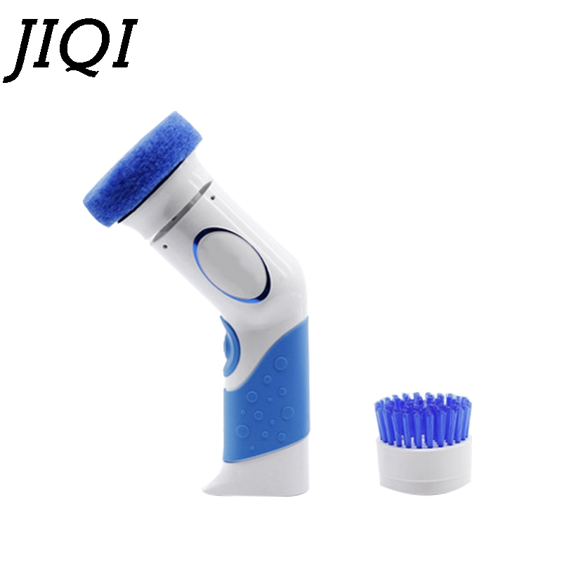 JIQI Household Battery use Hand electric Dishwasher Mini dishes washing machine kitchen bowl cleaning dishwashing brush cleaner цена