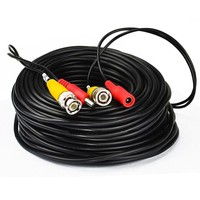 AHWVSE 30M BNC Video Power Cable 2in1 CCTV Cable Siamese Cable For Analog AHD CVI CCTV