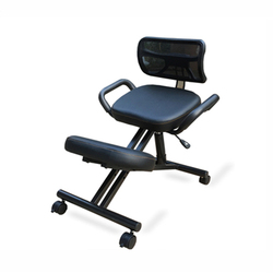 Silla para rodillas ergonómicamente diseñada con espalda y Asa silla de oficina Silla de rodilla postura ergonómica silla de oficina