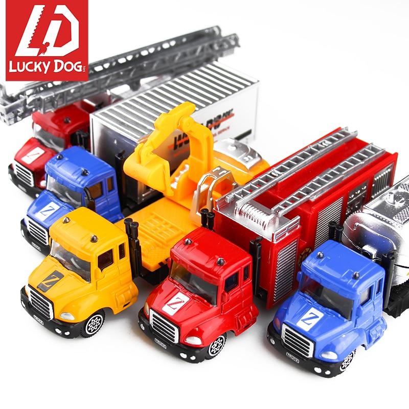 1:64 Diecast Car Alloy Truck Police SWAT Fire Fighting Metal Truck Boy Kid Toys