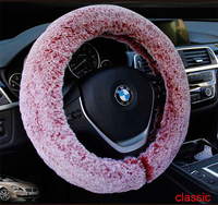 New Winter Car Suv Steering Wheel Cover Lady Girl Gift Man Gray Faux Fur Super Soft Steering Wheel Cover Fashion Style Purple