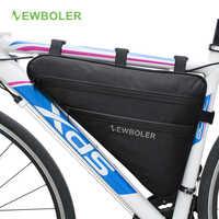 2018 NEWBOLER bolso triángulo grande de bicicleta Marco de bicicleta tubo delantero bolsa impermeable de ciclismo Pannier Ebike bolsa de herramientas accesorios XL