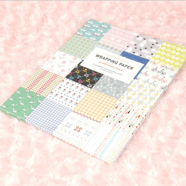 Eno Greeting Craft Paper Decorative Wrapping Paper Book 20 Designs
