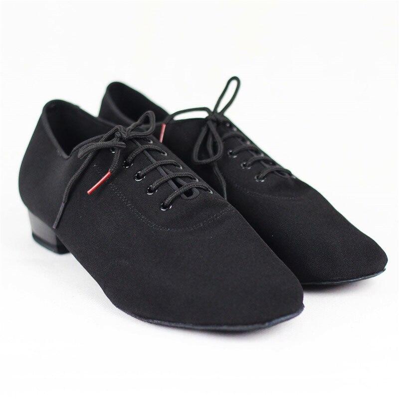 Hommes Standard Chaussures BD309 Salle De Bal Chaussures De Danse Toile Molletonnée Split Semelle Pratique Concurrence Hommes Moderne Danse Chaussures Danse Sportive - 4