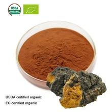 Органический экстракт гриба Чага, сертифицированный USDA и EC, 10:1 Полисахариды