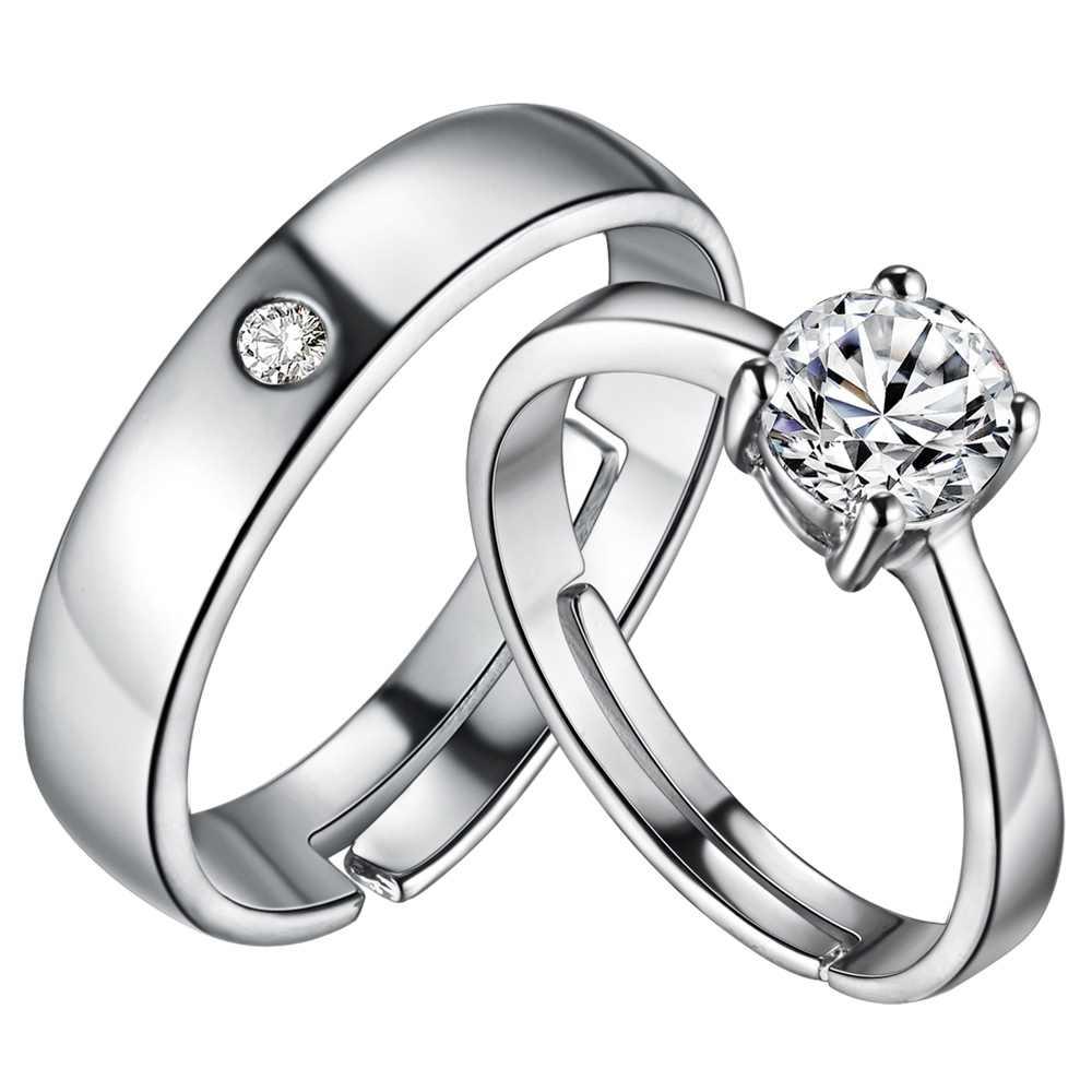 טבעת זירקון טבעת זוג תכשיטי אופנה בציפוי זהב 925 vashiria כתר קיסרי & טבעת מאהב צלב j644 רומנטי