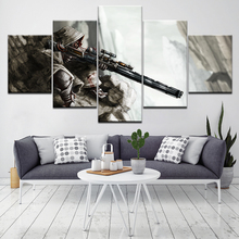 Sniper Heroes And Generals 5 Piece Canvas Wallpapers modern Poster Modular art painting for Living Room Home Decor