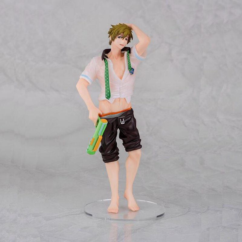 Action model Anime Tachibana Makoto Free! painted figure water <font><b>gun</b></font> version 1/8 <font><b>scale</b></font> collection model toy gift image