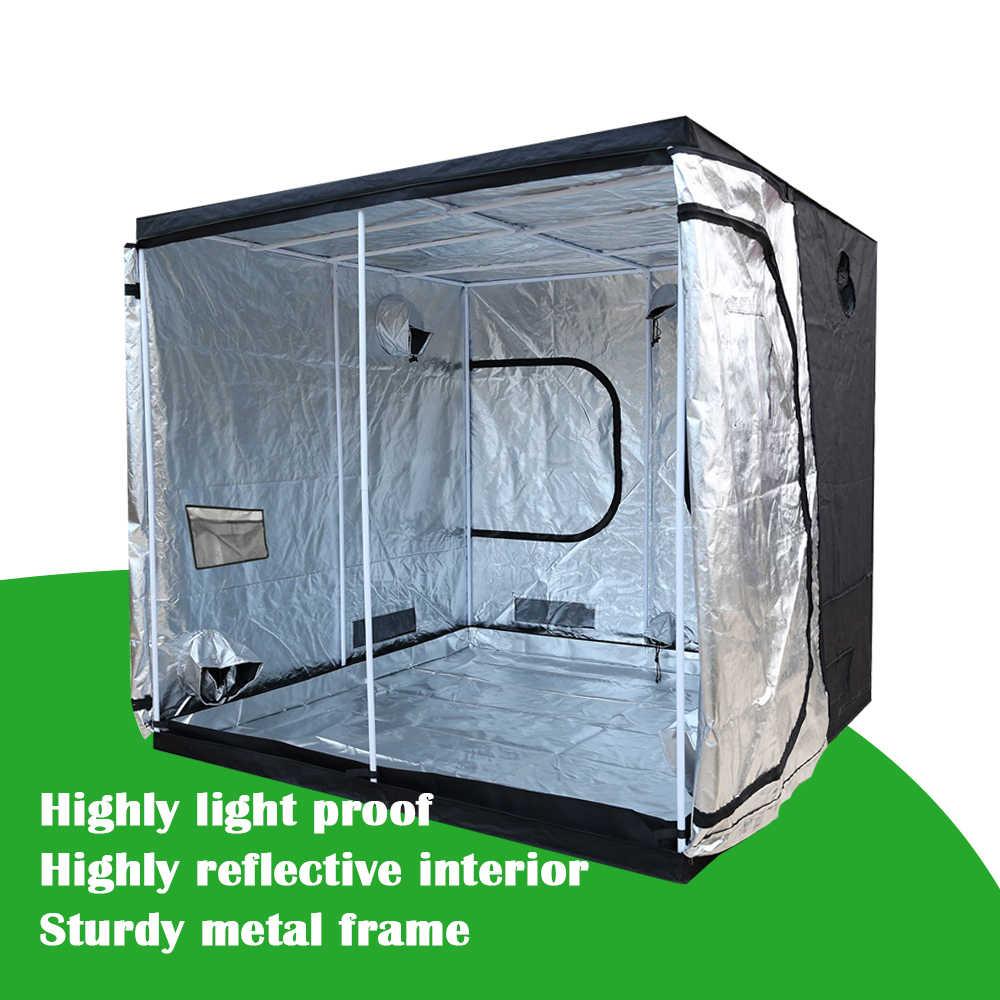 Завод палатка 600D расти палатку Крытый расти коробок по 50/60/80/100/120/150/240 см помещение для роста гидропоники тепличных растений, тенты с освещением