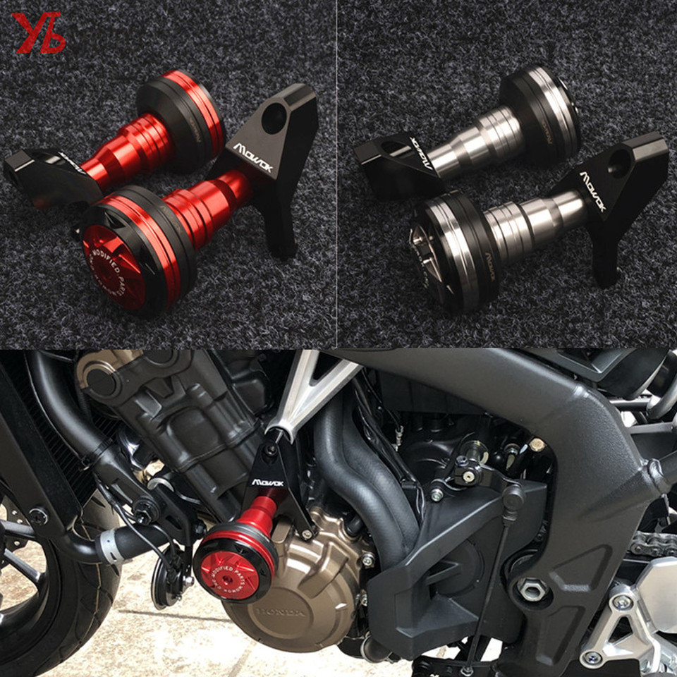 NEW Flash Deals Motorcycle CNC Crash Pads Frame Slider Protector Fits For Honda CB 650F CBR 650F 650R CB650F 2014-2018 for honda cb 500f cb 500x cb 650f 2016 2017 2018 motorcycle cnc fuel gas tank cap cover motorbike accessories