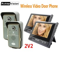 KDB702 2v2 Wireless video door phone for villa access control system Smart video intercom doorbell camera with monitor detection