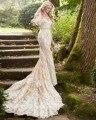 Мечта Ангел Sexy Милая Кружева Русалка Свадебные Платья 2017 Аппликации Пояса Свадебное Платье Труба Платье De Noiva Плюс Размер