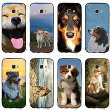 Colorful Australian Shepherd Shiba Inu Dog Phone Cover for Samsung S6 Edge Case Galaxy A5 A3 A6 S7 S8 S9 Plus Note 8 9 Silicone