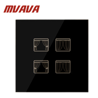 FREE Shipping Mvava EU Standard Touch House Home Led Curtains Switch Luxury Black Crystal Glass Panel