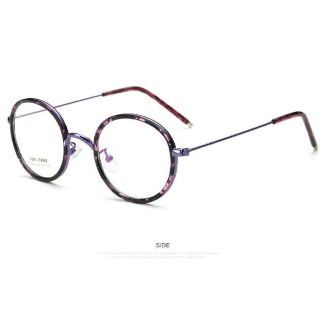 0b7808a207f placeholder Fashion New High Quality Men Women Retro Round Metal Eyeglasses  Frames Korean Myopia Glasses Frame Optical