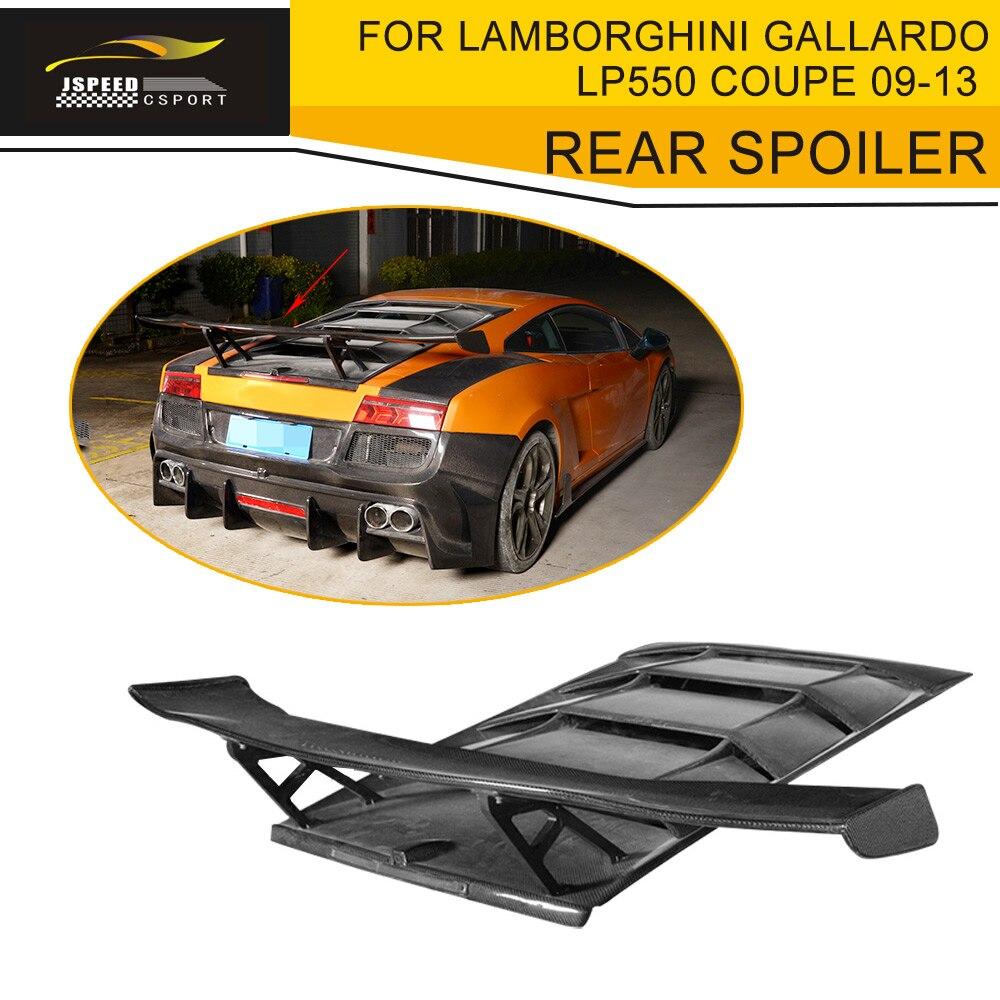 Spoilers & Wings Carbon Fiber Rear Roof Cover Hood Spoiler Lip Wing Case For Lamborghini Gallardo Coupe Convertible Lp550 Lp560 Lp570 2009-2013 Luxuriant In Design