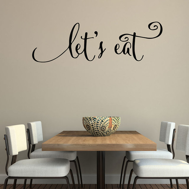 Wall quotes decals lets eat kitchen quotes stickers dining room wall quotes decals lets eat kitchen quotes stickers dining room wall decals vinyl decal family lettering sxxofo