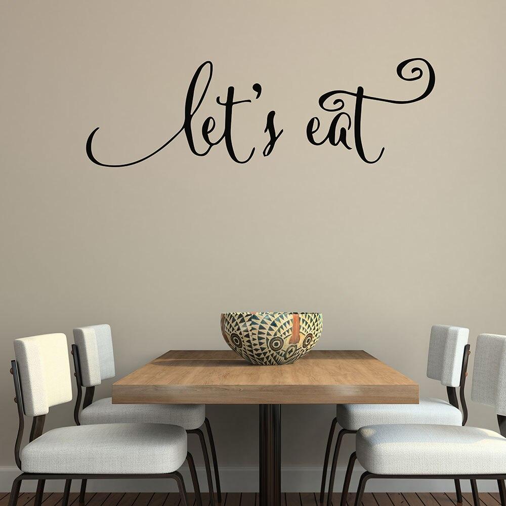 US $9.95 |Wand Zitate Abziehbilder Lassen Sie Essen Küche Zitate Aufkleber  Esszimmer Wandtattoos Vinyl Aufkleber Family Beschriftung Wand Kunst ...