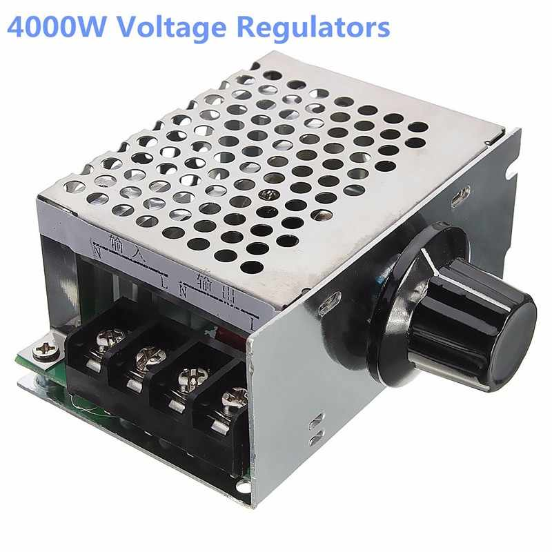 ZEAST 4000W 220V High Power SCR Voltage Regulator Dimmer Electric Motor Speed Controller Electrical Instruments Potentiometers