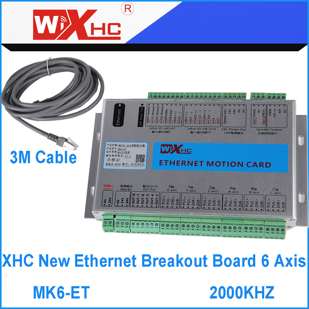 6 Axis Mach3 Ethernet Breakout Board 2000khz Output Frequency Motion Control Panel Wiring Controller Mk6 Et And