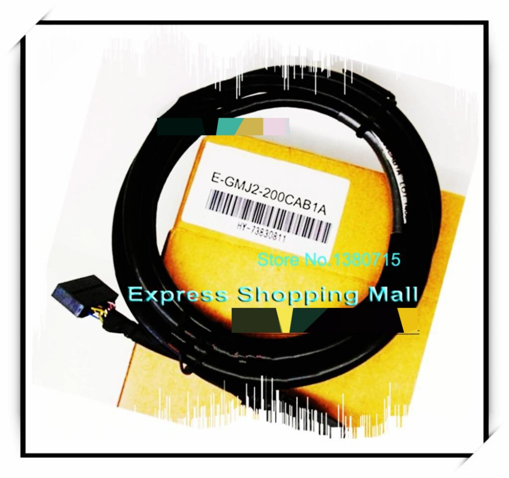 New Original E-GMJ2-200CAB1A PLC Cable connecting FX2N-20GM and MR-J2S free shopping usb mr e for mr e servo communication cable