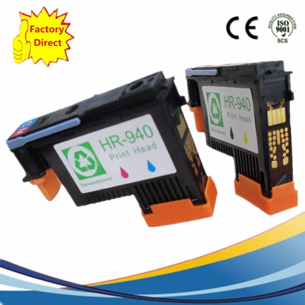 2 Pack 940XL 940 Reman Printhead Compatible For HP HP940 Officejet Pro 8500 8500A 8000 Inkjet Printer Print head C4900A C4901A