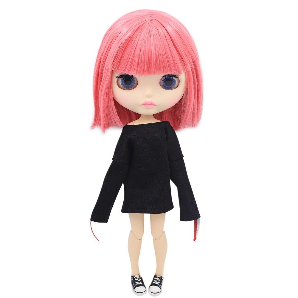 ICY Nude Blyth ตุ๊กตา Series BL2476 Joint body ผมสีชมพูแกะสลักริมฝีปาก Matte face-ใน ตุ๊กตา จาก ของเล่นและงานอดิเรก บน   1