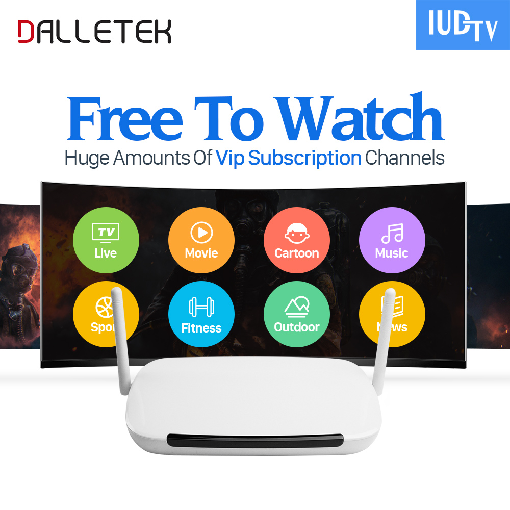 Dalletektv IPTV 1 Year QHDTV Code IPTV Subscription IUDTV Europe SUBTV Brasil Smart Android 6.0 TV Box Turkish Arabic IPTV Box movie iptv