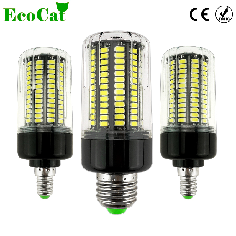 ECO CAT E27 E14 LED Corn Bulb light 3.5W 5W 7W 8W 12W 15W 20W  85V-265V No Flicker Constant Current  lamp ...