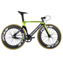 ICAN Super light 6.98kg carbon track bike aero completed bicycle full bikes fixed gear AC135