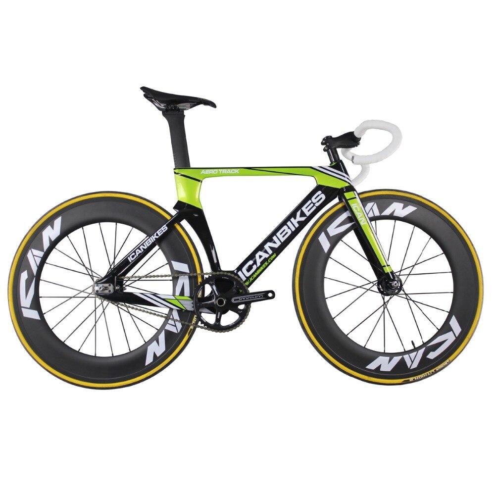 Puedo Super luz 6,98 kg de carbono bicicleta de pista aero completado pista de bicicleta de carbono bicicletas bicicleta de engranaje fijo AC135