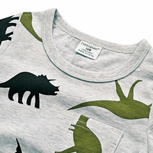 Fashion Dinosaurs Printed Cotton Baby Boy's T-Shirt
