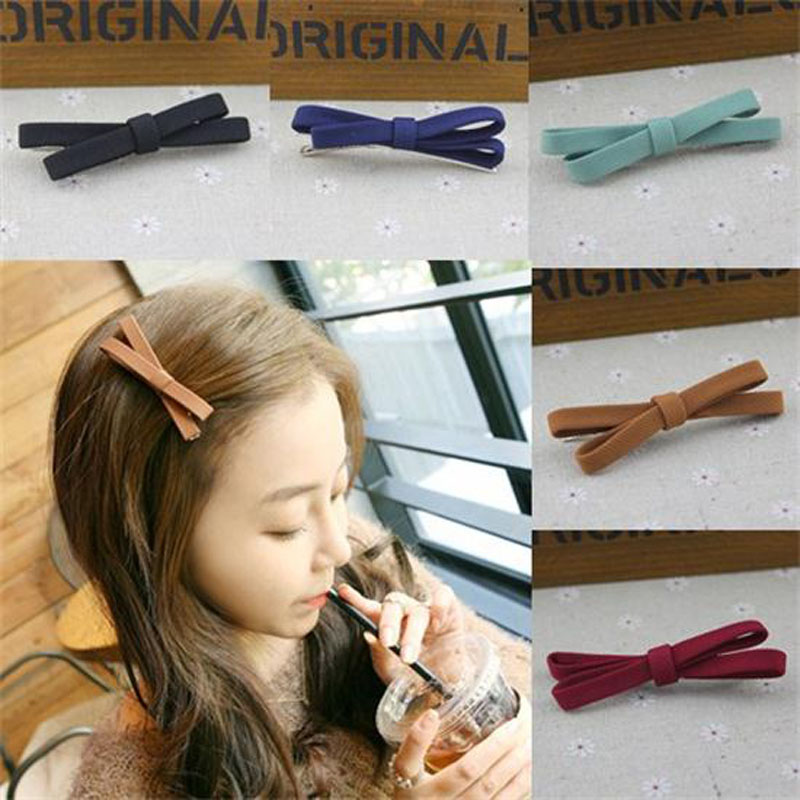 New 1 PC Women Girls Cute Bowknot Hairpin Hair Barrette Headband Hair Accessory Benn Clip Hair Accessories free shipping 10pcs lot new double satin bow hair clip rhinestone bowknot hairpin girls kids barrette