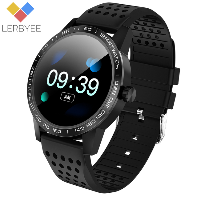 Lerbyee Smart Watch T2 Waterproof Blood Pressure Fitness Tracker Watch Call Reminder Sleep Monitor Watch Black for Android IOS
