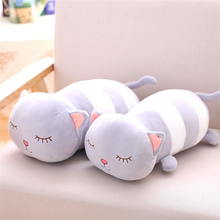 1Pc 30-65Cm Kawaii plush cat toy stuffed anmial long pillow doll children girl birthday christmas gift shop home decoration