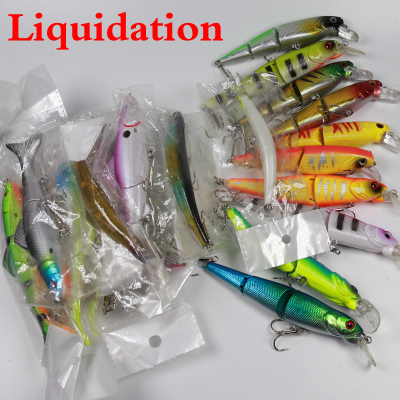 Liquidation Plastic Fishing Lure Bass Pike Hard Baits with Treble Hook Cheap Price Fish Lures